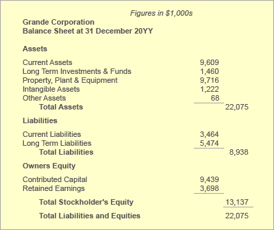 Balance Sheet Statement of Financial Position Define Explain – Examples of Financial Report